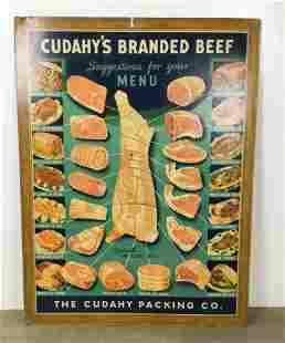 Cudahy's Branded Beef Advertising Poster