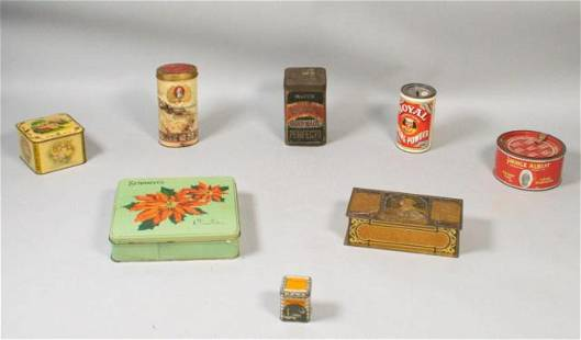 Lot of 8 Early 20th Century Advertising Tins