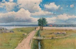 Oil on Canvas Rural Road Landscape