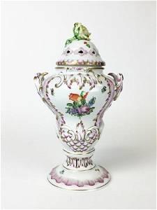Lidded Herend Potpourri Urn Centerpiece