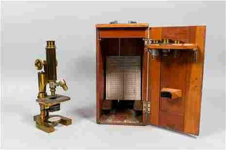 Bausch & Lomb Optical Co. Brass Microscope