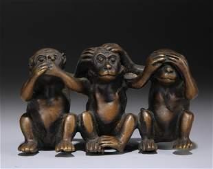 Bronze Monkeys Group Qing Dynasty