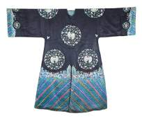 A Chinese Embroidered Cranes Lady Robe