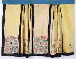 A Chinese Embroidered Lady Skirt Qing Dynasty