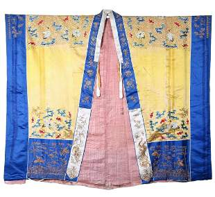 A Chinese Embroidered Taoism Robe Qing Dynasty