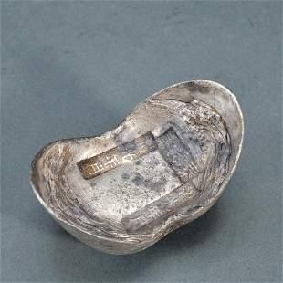 A Chinese Silver Ingot