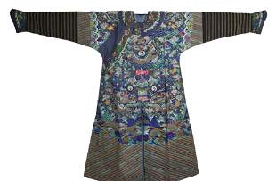 A Kesi Embroidered Dragon Robe Daoguang Period