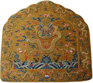 An Imperial Embroidered Dragon Cuision Yongzheng Period