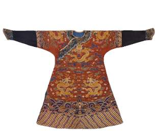 A Embroidered Dragon and Cloud Court Robe Jifu Qing