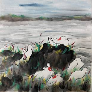A Chinese Painting By Wu Guanzhong