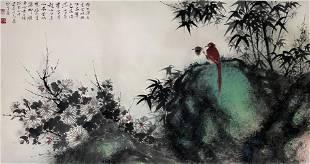 A Chinese Painting By Li Xiongcai