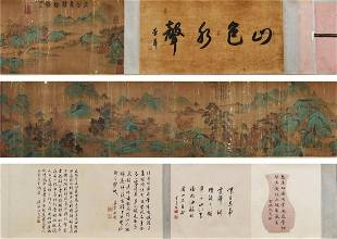 A Chinese Hand Scroll Painting By Ma Yuan