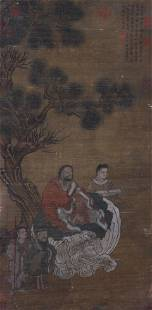 A Chinese Scroll Painting By Li Gonglin