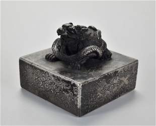 A Bronze Beast Seal Qing Dynasty