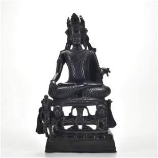 A Bronze Seated Bodhisattva