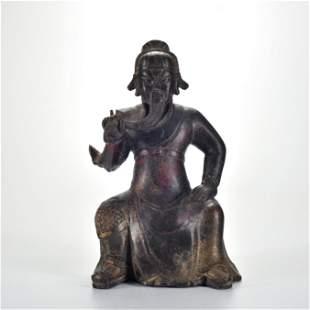 A Bronze Seated Guandi Qing Dynasty
