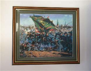 Framed Battle of Gettysburg Montage and Two 20th c