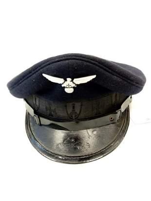 Post war German veterans cap with a WW2 cap badge sewn