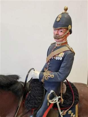 One Royal Marine Officer on Horseback