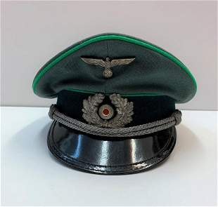 WW2 German army officers cap (repro)