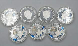 7 Canadian Silver Commemorative Coins from 2016 for the