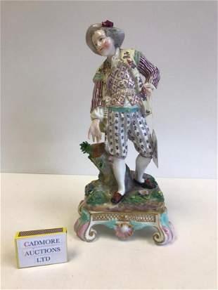 A German Porcelain Figurine of a Gentleman, Volkstedt,