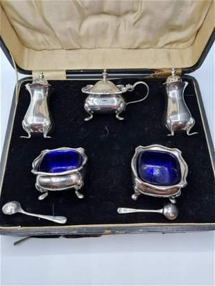 Silver Complete Condiment Set in Original Box, Hallmark
