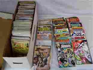 long box of comic books