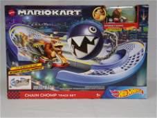 hot wheels mario kart chain chomp track set w/ donkey