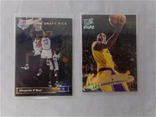 lot of 2 basketball cards kobe bryant and shaq