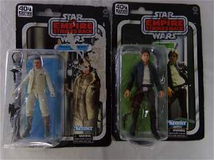 lot of 2 star wars action figures w/ hon solo