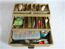 Woodstream 52 Fishing Tackle Box w/ Contents