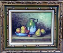 V. Watson Signed Still Life Oil Painting