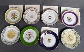 Danbury Mint 8 White House Presidential Plates