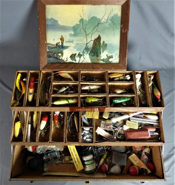 Vintage Kennedy Tackle Box w/ Fishing Accessories