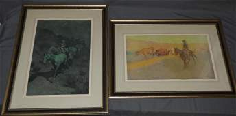 Frederic Remington 2 Early Western Framed Prints