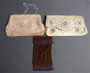 Vintage Pearl Beaded Purse/ Clutches