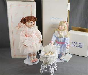 Two Fine Porcelain Collector Dolls