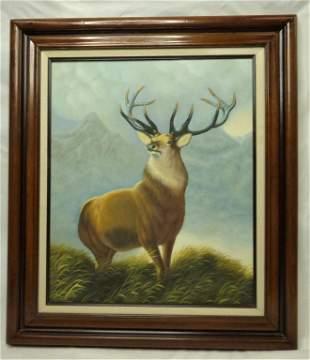 Jack Leh Rian Deer Oil Painting