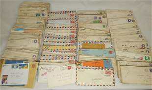 Large Lot of Vintage US Postal Covers w/ Stamps