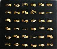 Collection of Costume Jewelry Fashion Rings
