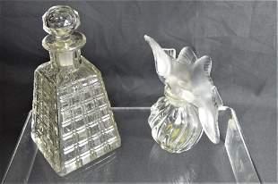 Nina Ricci Lalique Perfume Bottle & Decanter Perfe
