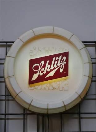 1960's Schlitz Round Lighted Beer Advertising Sign