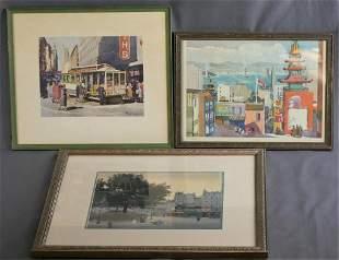 Vintage Art Prints- San Francisco Bay United Airln