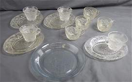 Indiana Glass Coffee & Snack Set Cups & Plates