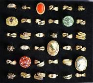 Fashion Costume Jewelry Ring Assortment