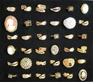 Group of 36 Fashion Costume Jewelry Rings