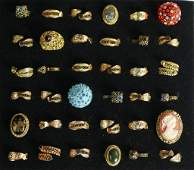Group of Fashion Costume Jewelry Rings- Cameo