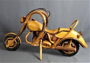 Wooden Harley Davidson Motorcycle Model