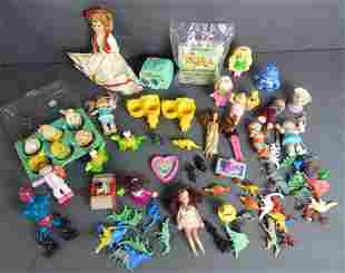 Vintage Toys- Dolls, Character, Plastic Dinosaurs